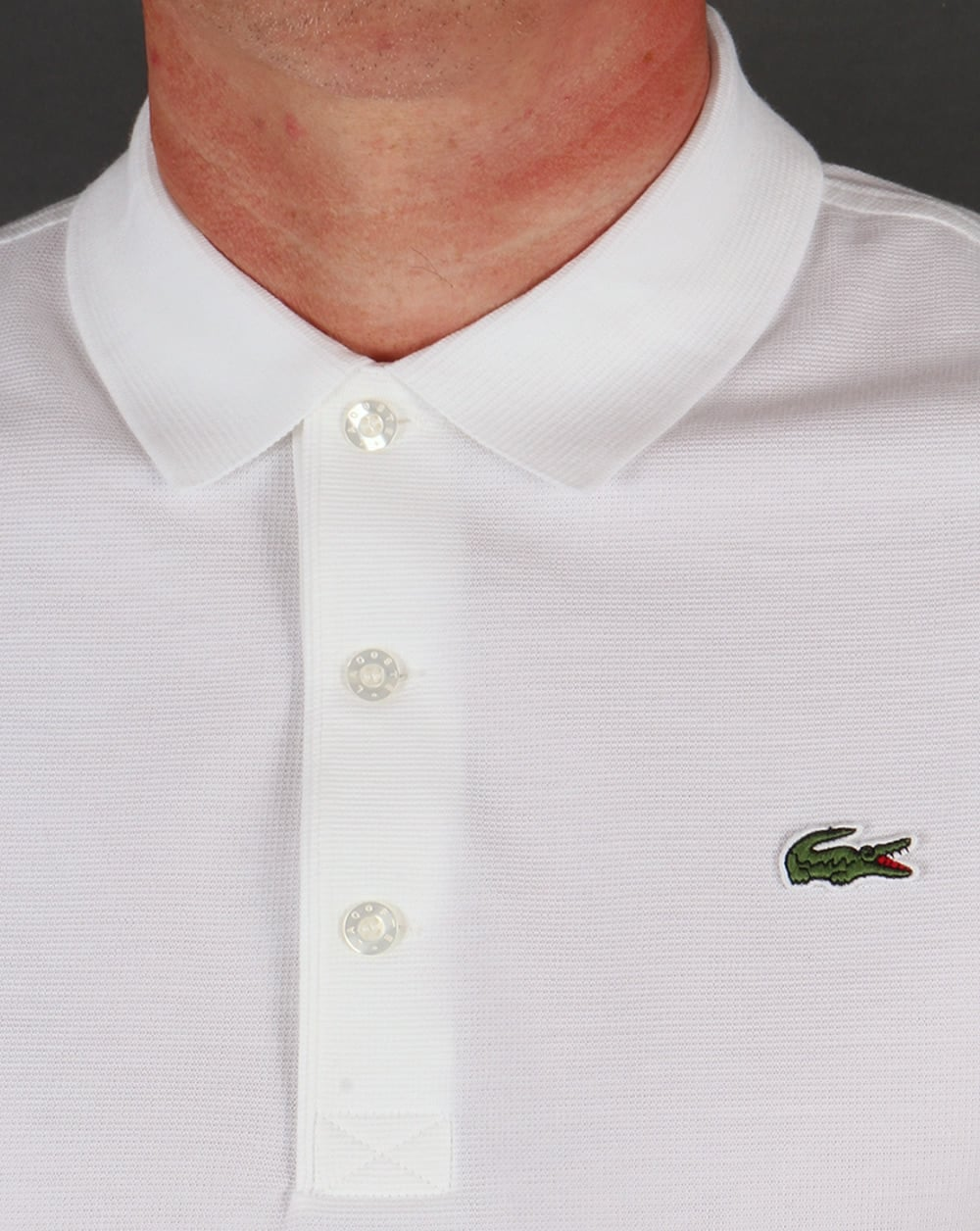 lacoste ultra lightweight knit polo shirt white. Black Bedroom Furniture Sets. Home Design Ideas