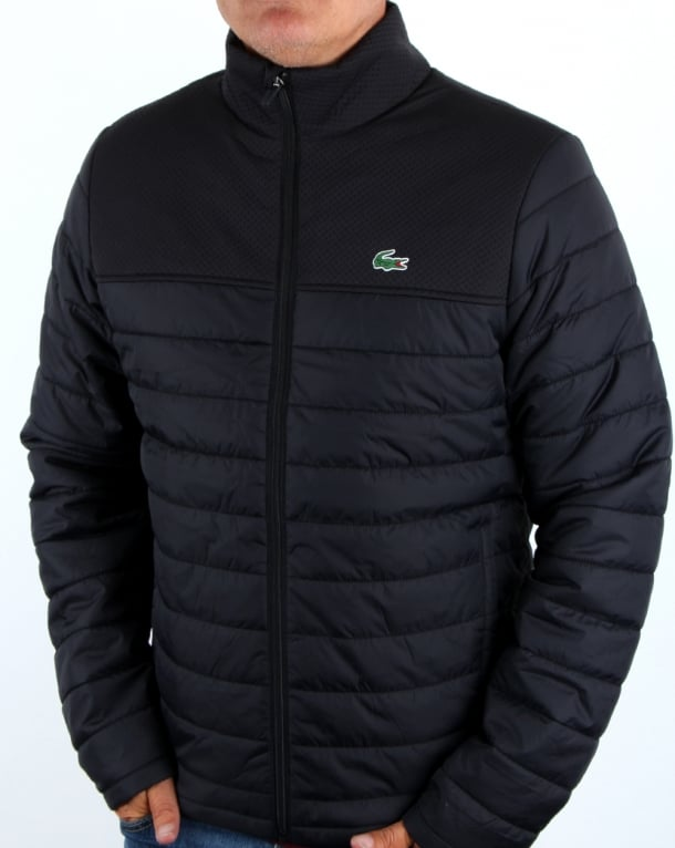 Lacoste Puffer Jacket Black Men S Coat Padded Quilted