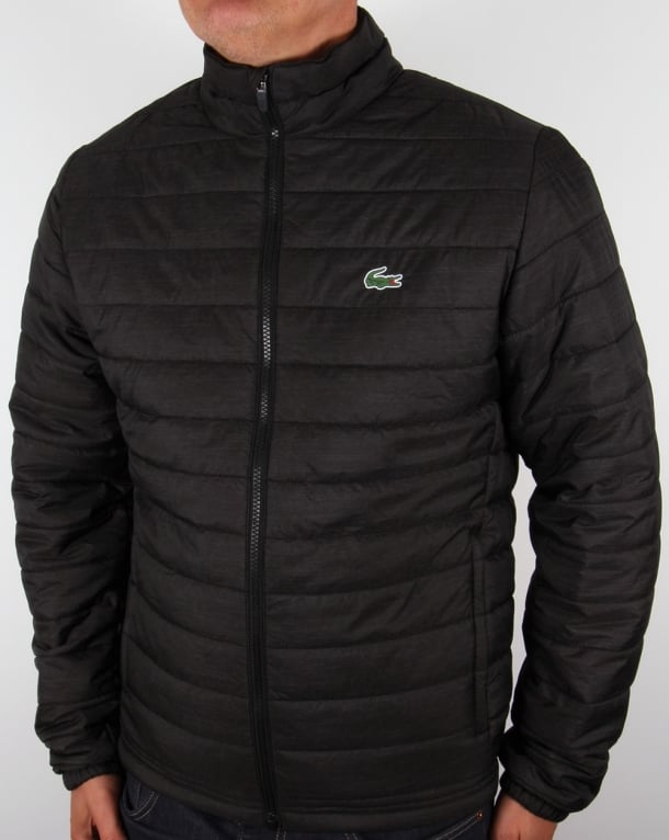 Lacoste Sport Quilted Jacket Black Men S Puffa Puffer
