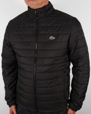 Lacoste Quilted Jacket Black