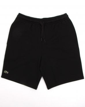 Lacoste Rear Pocket Fleece Shorts Black
