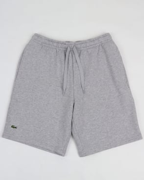 Lacoste Rear Pocket Fleece Shorts Grey Marl