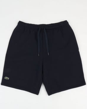 Lacoste Rear Pocket Fleece Shorts Navy