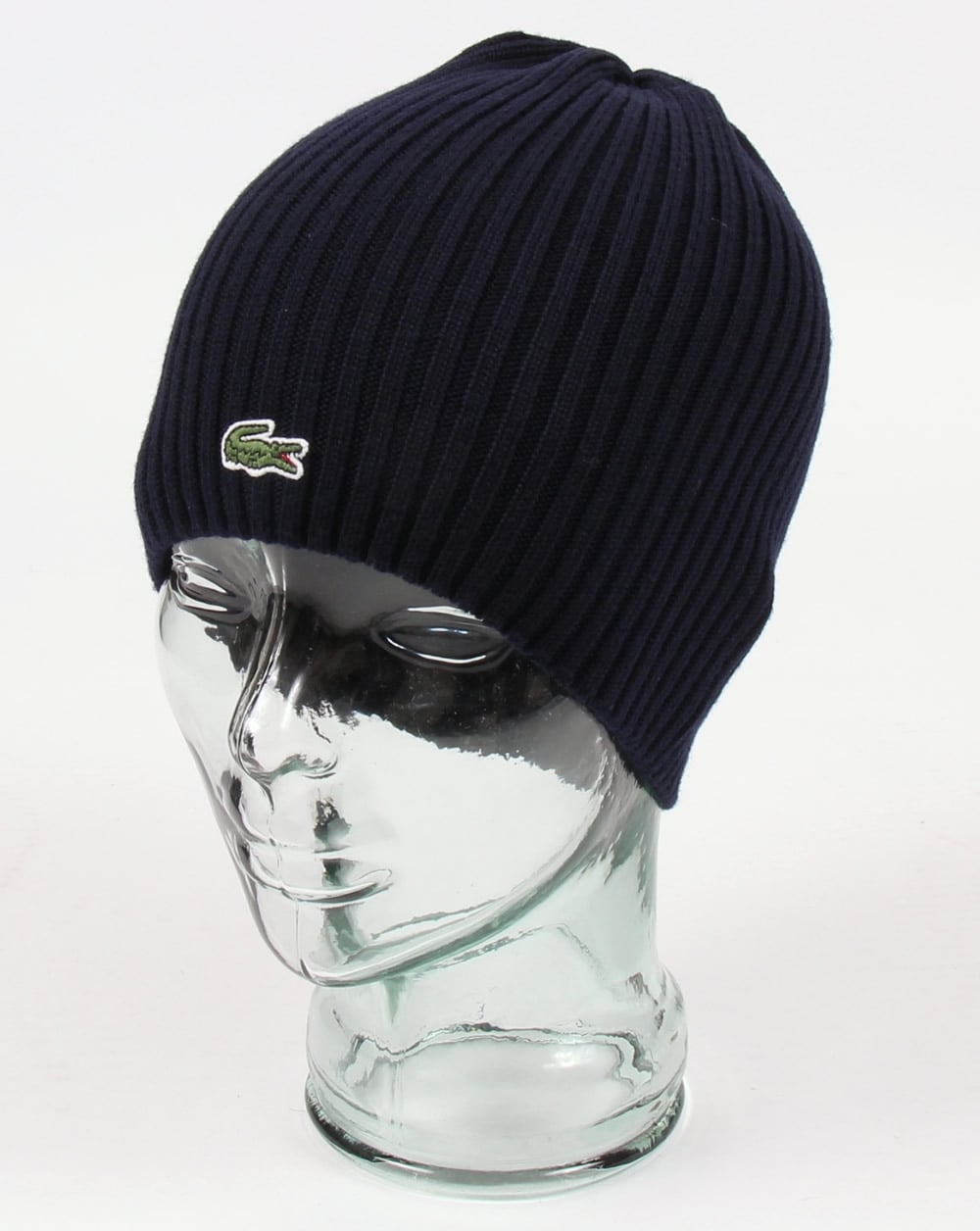 Lacoste Lacoste Ribbed Wool Beanie Navy 7305d70c9376