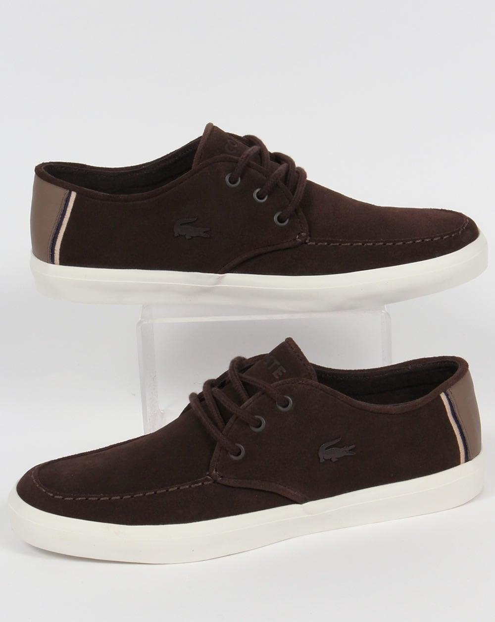 the best attitude 7e8d4 fa931 Lacoste Lacoste Sevrin Suedette Boat Shoes Dark Brown