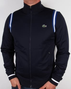 Lacoste Shoulder Stripe Track Top Navy/Royal/White