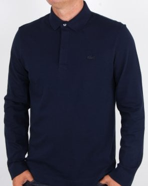 Lacoste Smarter Long Sleeve Polo Shirt Navy