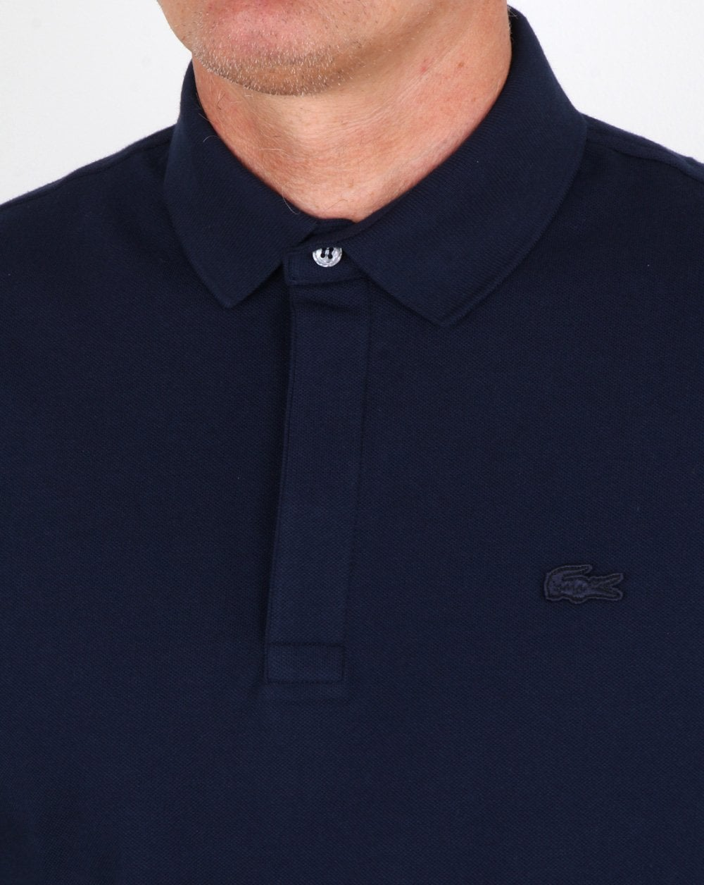e46a5623 Lacoste Long Sleeve Polo Shirt Navy,blue,smart,knitted,cotton,mens