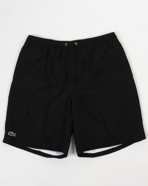 Lacoste Sport Diamond Drawstring Shorts Black