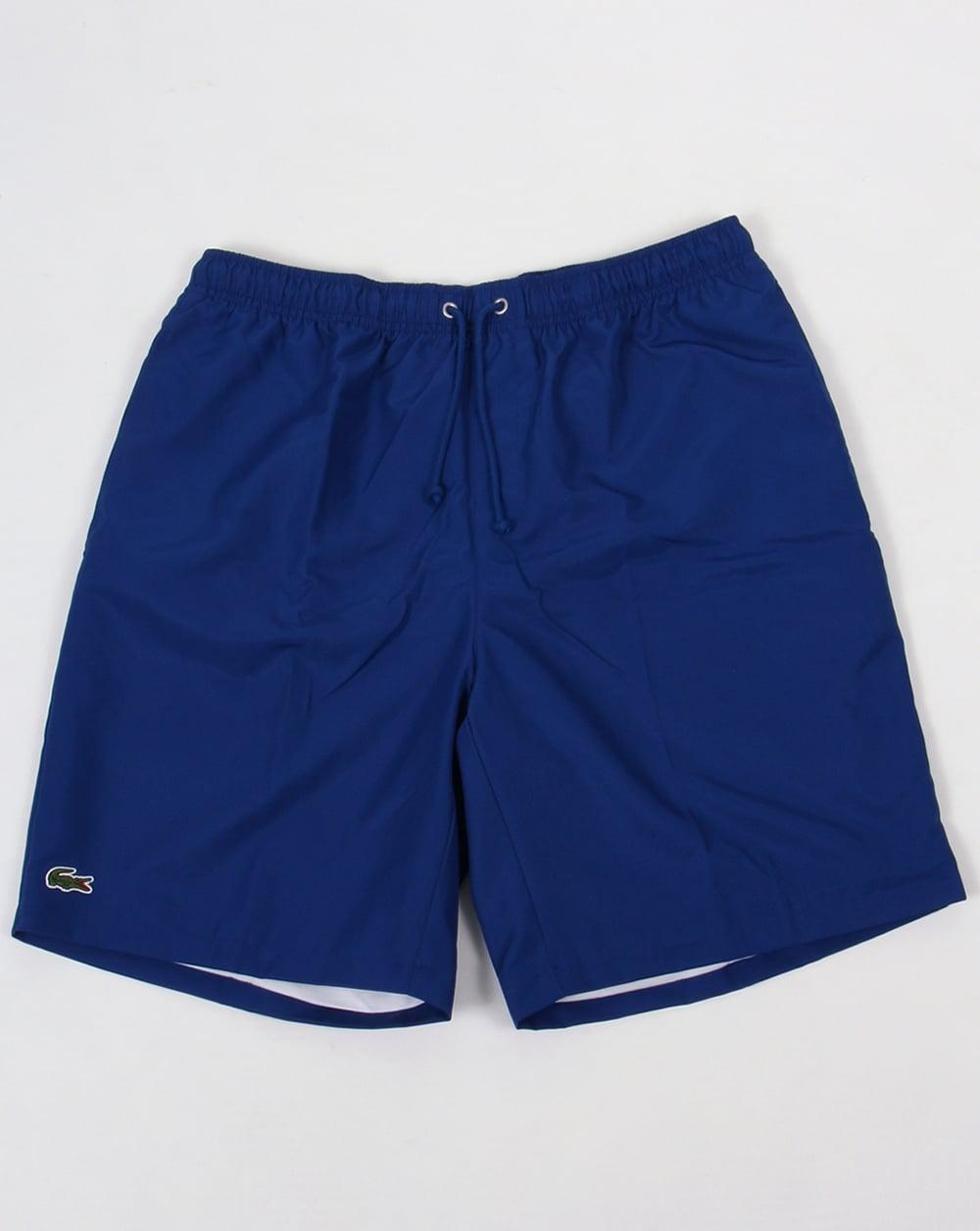 lacoste sport diamond drawstring shorts royal blue tennis