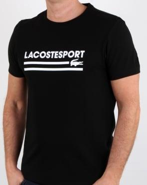Lacoste Sport Logo T Shirt Black/white