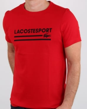 Lacoste Sport Logo T Shirt Red/black