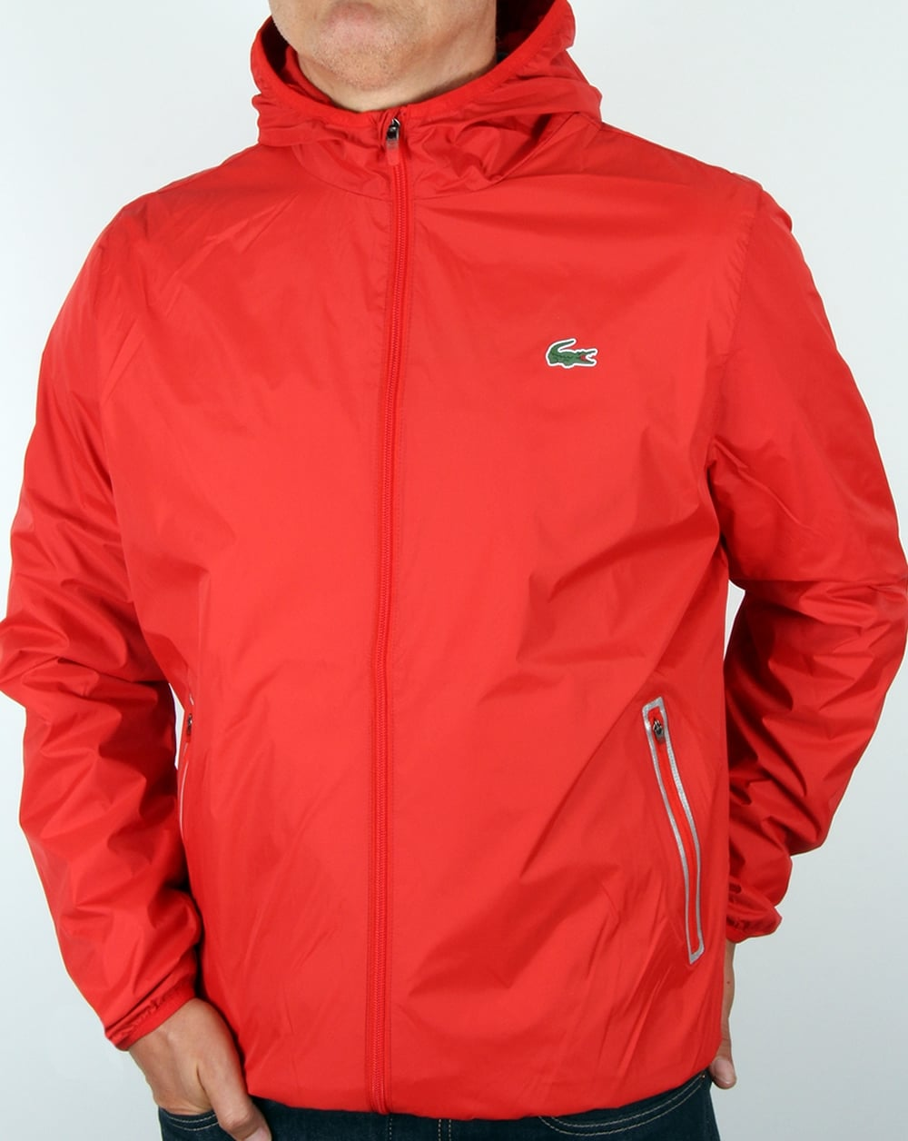 f4d7362971db Lacoste Lacoste Sport Tech Hooded Jacket Corrida Red