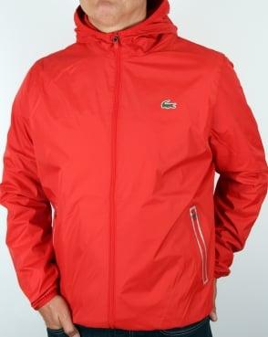 Lacoste Sport Tech Hooded Jacket Corrida Red