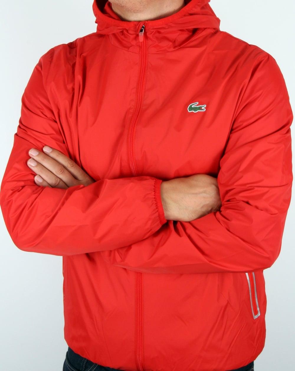 32036e30 Lacoste Sport Tech Hooded Jacket Corrida Red