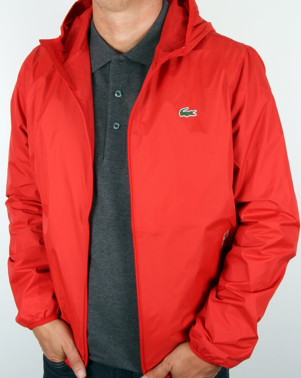 57d276e683 Lacoste Sport Tech Hooded Jacket Corrida Red