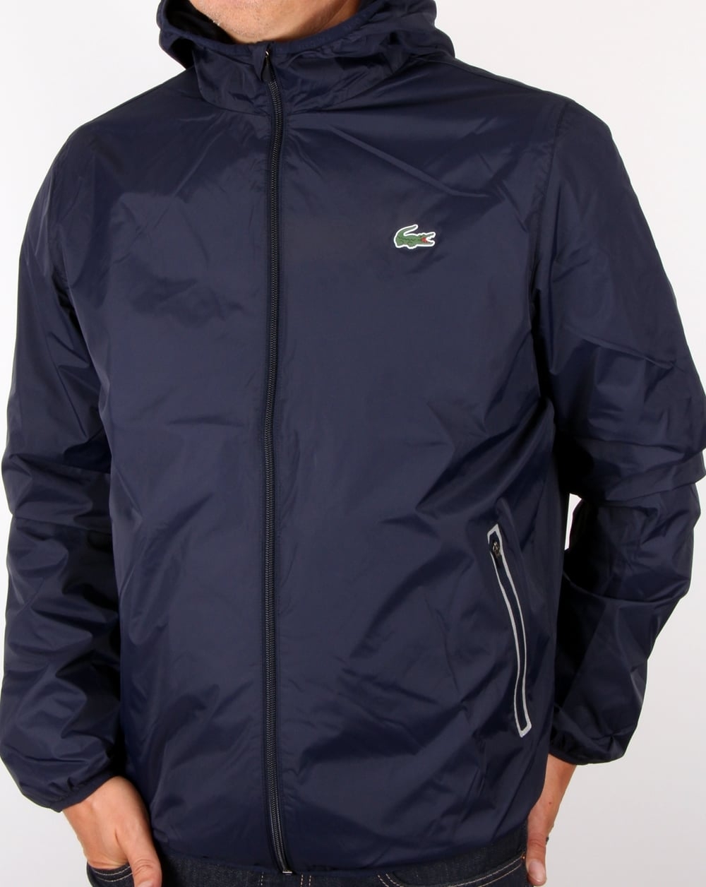 7bed896f Lacoste Sport Tech Hooded Jacket Navy