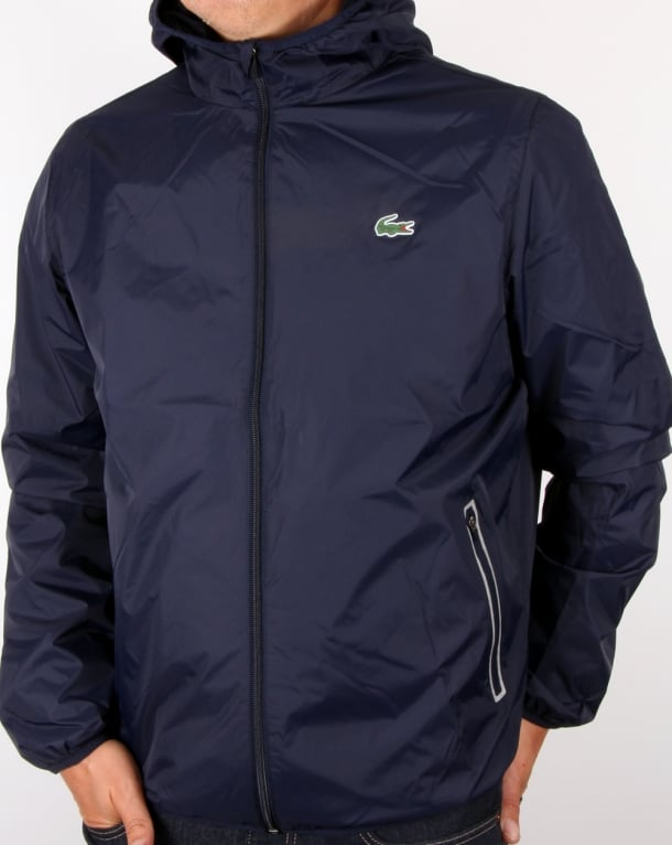 Lacoste Sport Tech Hooded Jacket Navy