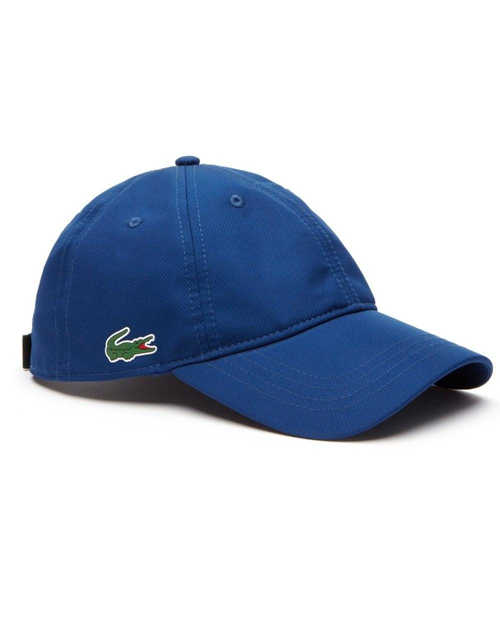 8c6f472a91637e Lacoste Sport Baseball Cap Marino Blue | 80s casual classics