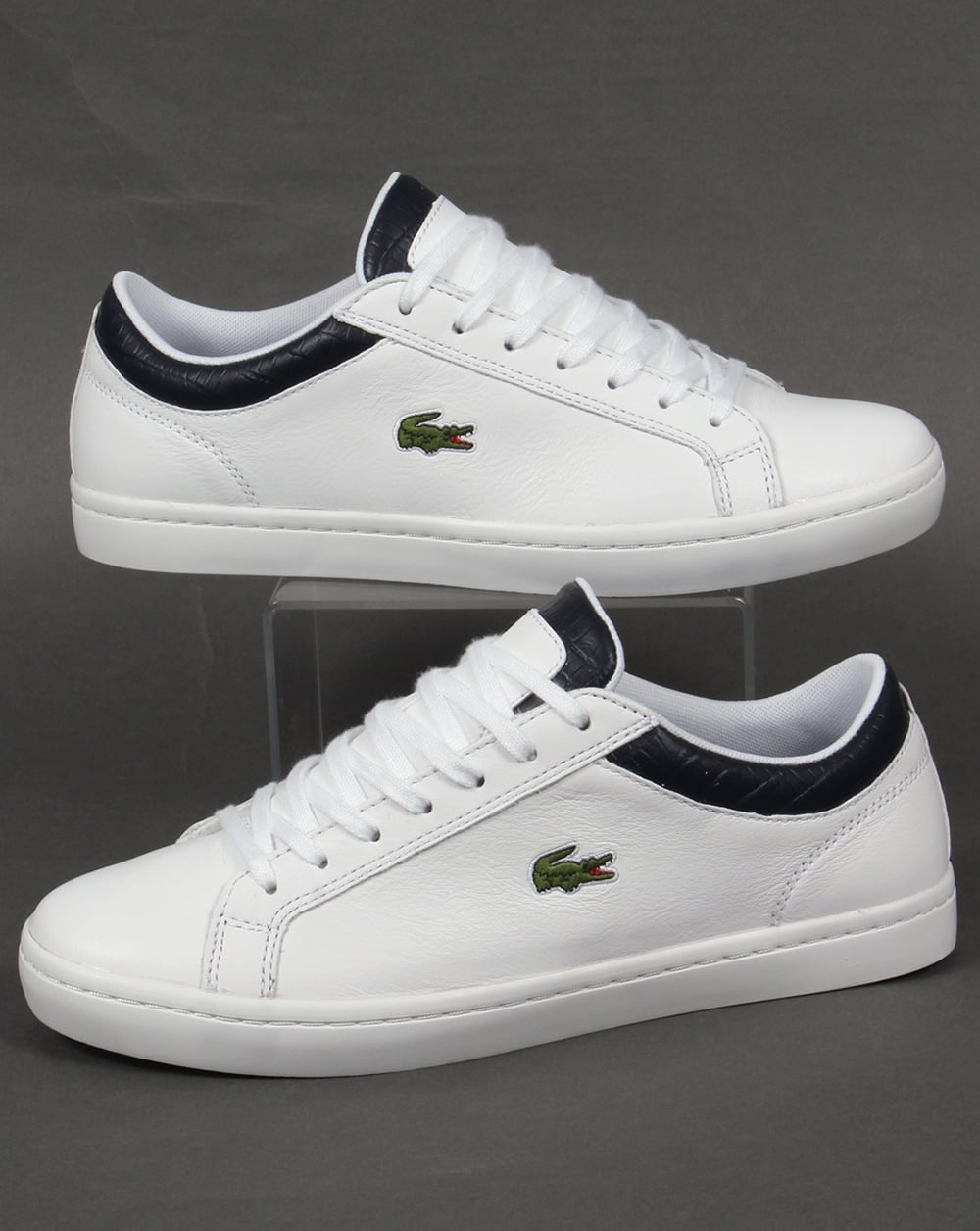 292755f21 Lacoste Lacoste Straightset Trainers White Navy