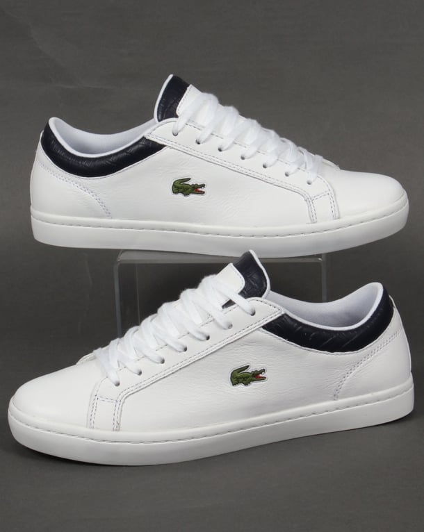 Lacoste Straightset Trainers White/Navy