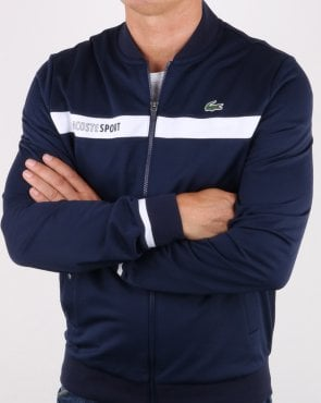 Lacoste Stripe Track Top Navy/white