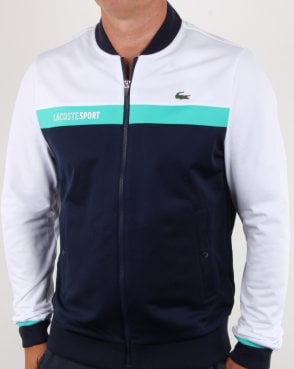 Lacoste Stripe Track Top White/navy/aqua