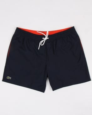 Lacoste Swim Shorts Navy/mexico Red