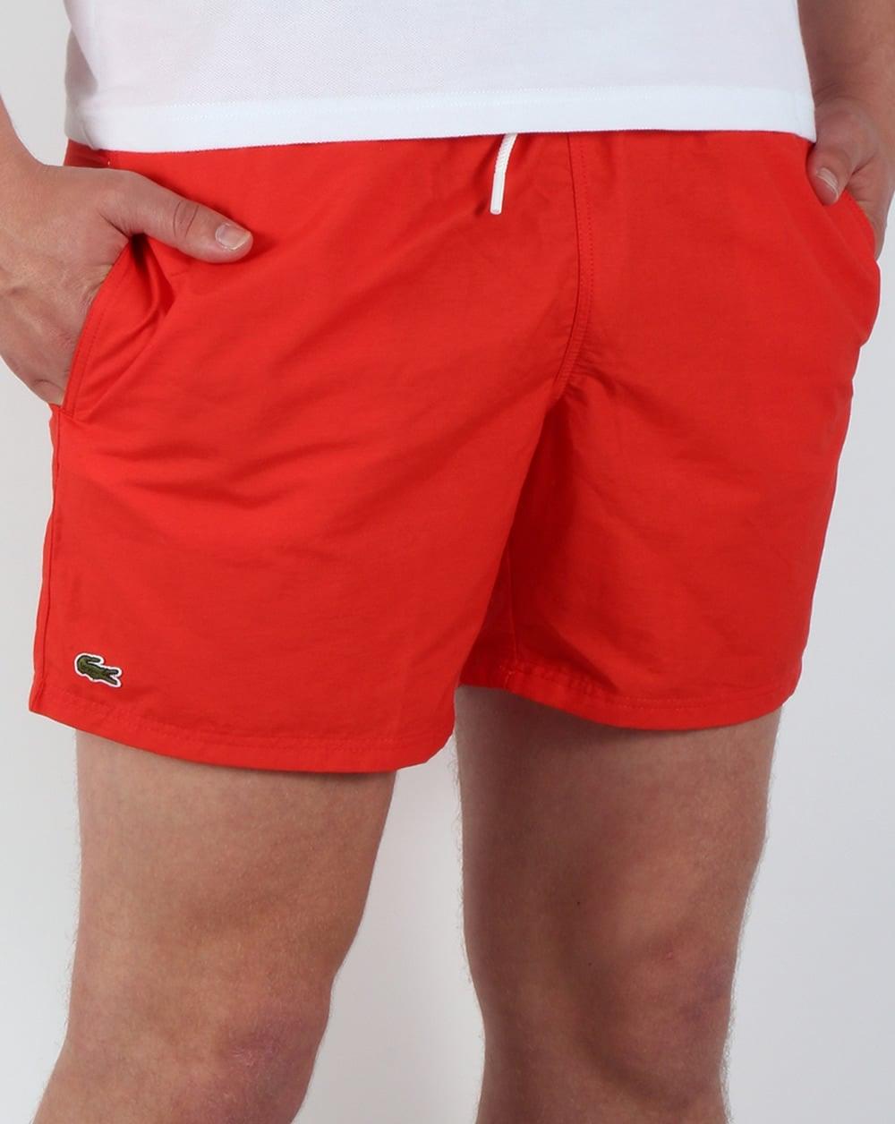 55b3ce6d Lacoste Swim Shorts Red