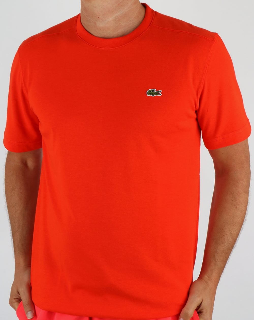 f357136fd7e3 Lacoste T-shirt Etna Red,crew neck, Men's, Cotton, Tee