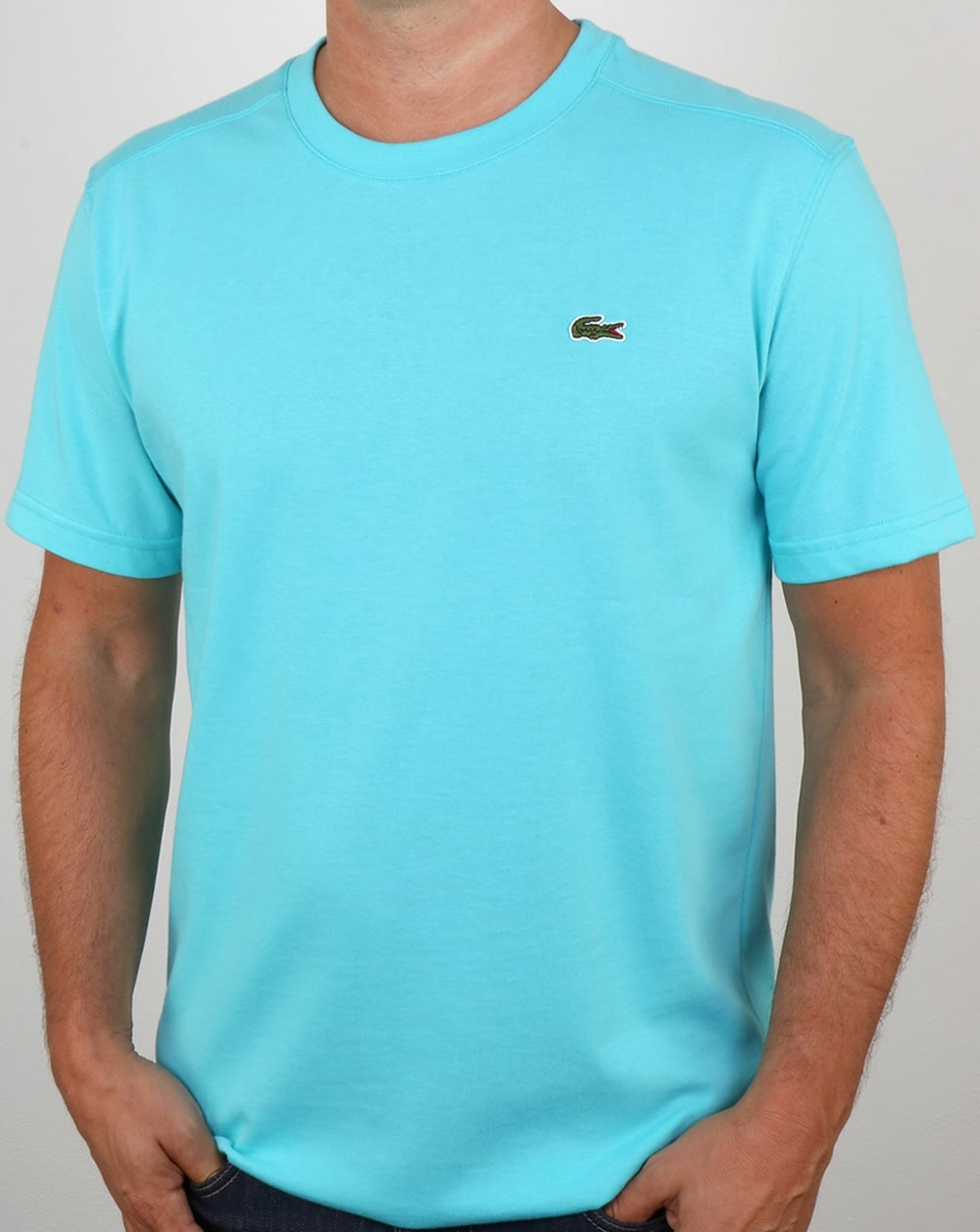 lacoste t shirt haiti blue crew neck men 39 s cotton tee. Black Bedroom Furniture Sets. Home Design Ideas