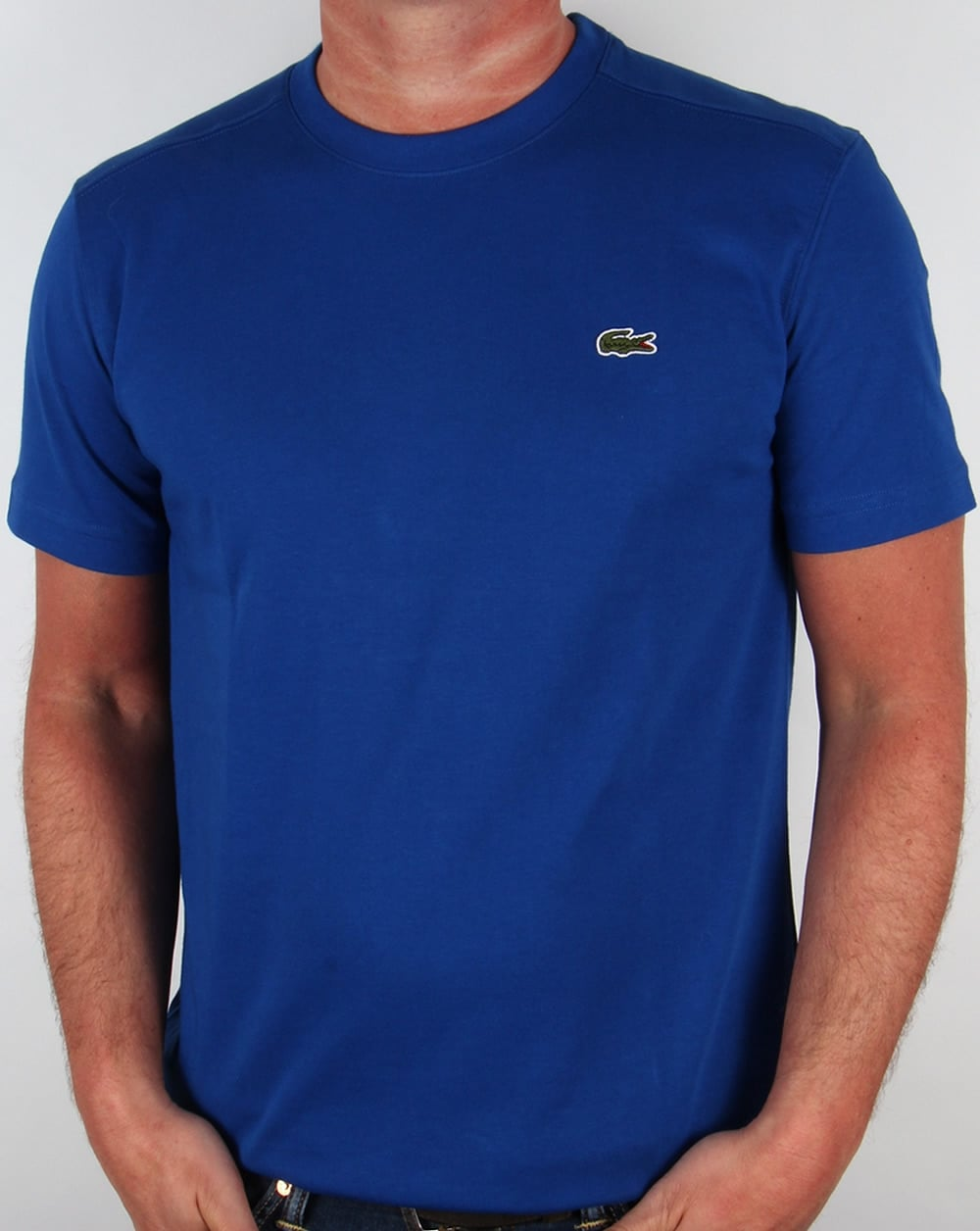 lacoste t shirt royal blue tee crew neck sport mens