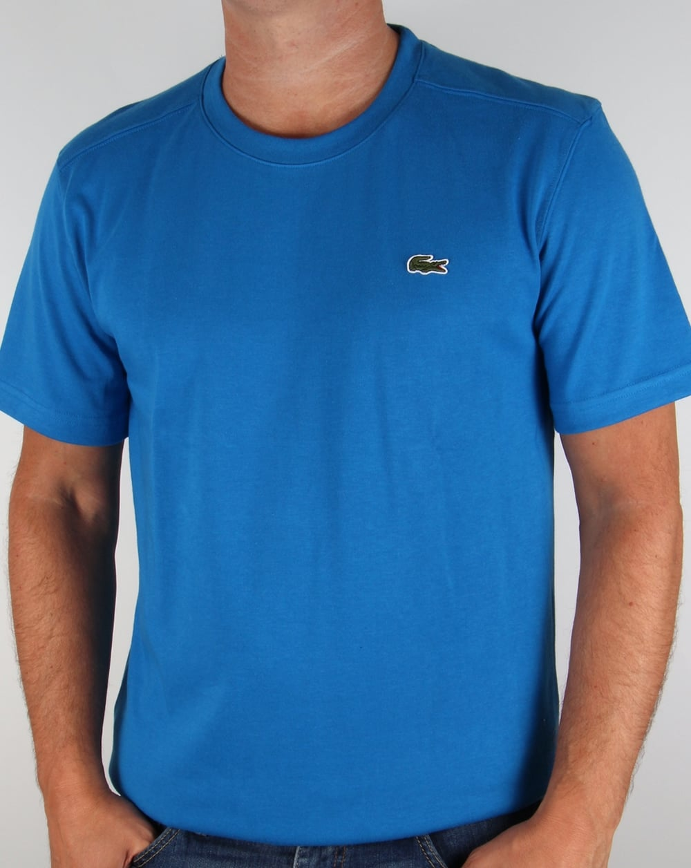 lacoste t shirt royal encre blue tee crew neck sport mens. Black Bedroom Furniture Sets. Home Design Ideas