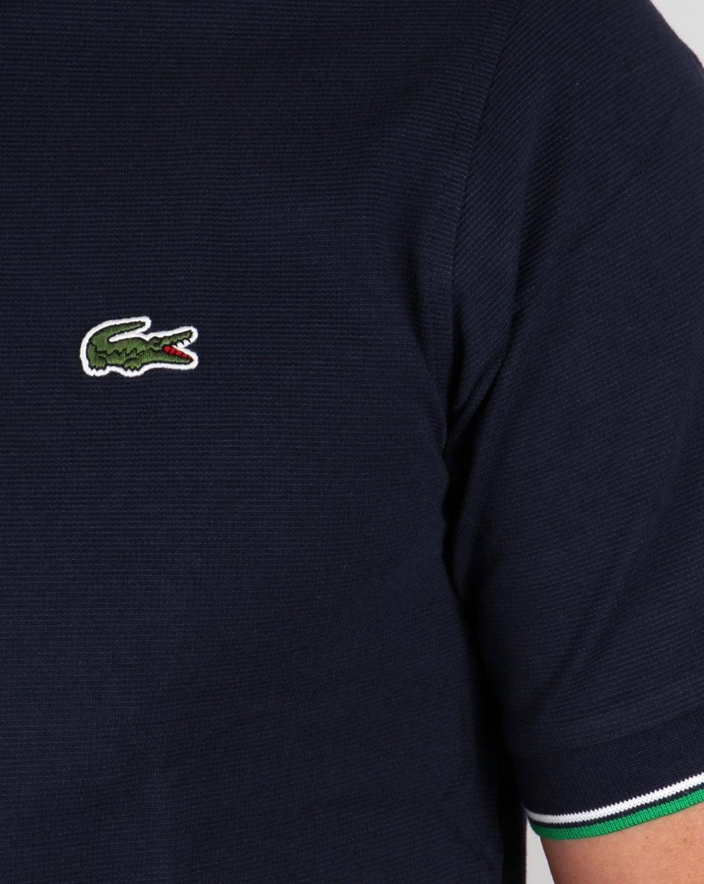 Lacoste Tipped Polo Shirt Navygreensportmens