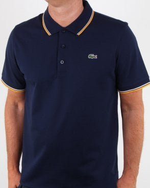 Lacoste Tipped Polo Shirt Navy/white