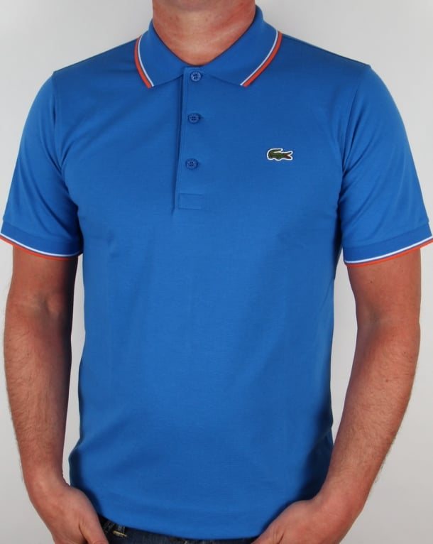 Lacoste Tipped Polo Shirt Vibrant Blue