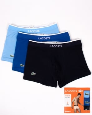 Lacoste Triple Pack Boxer Shorts Navy/royal/sky