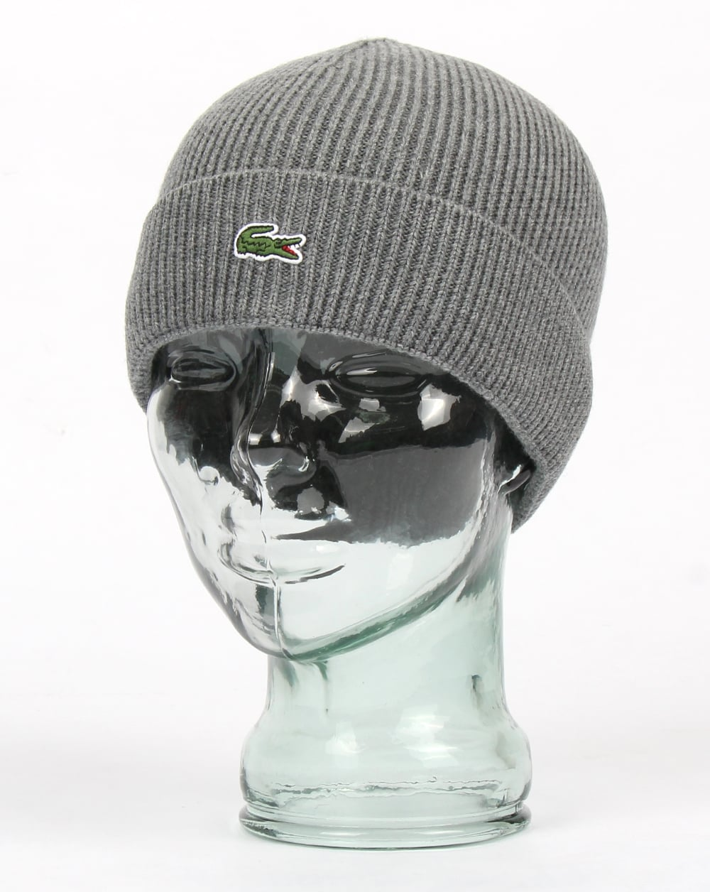 Lacoste Lacoste Turn Up Ribbed Wool Beanie Galaxite Chine f614c66dd8d