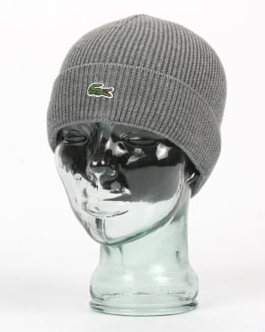 Lacoste Turn Up Ribbed Wool Beanie Galaxite Chine