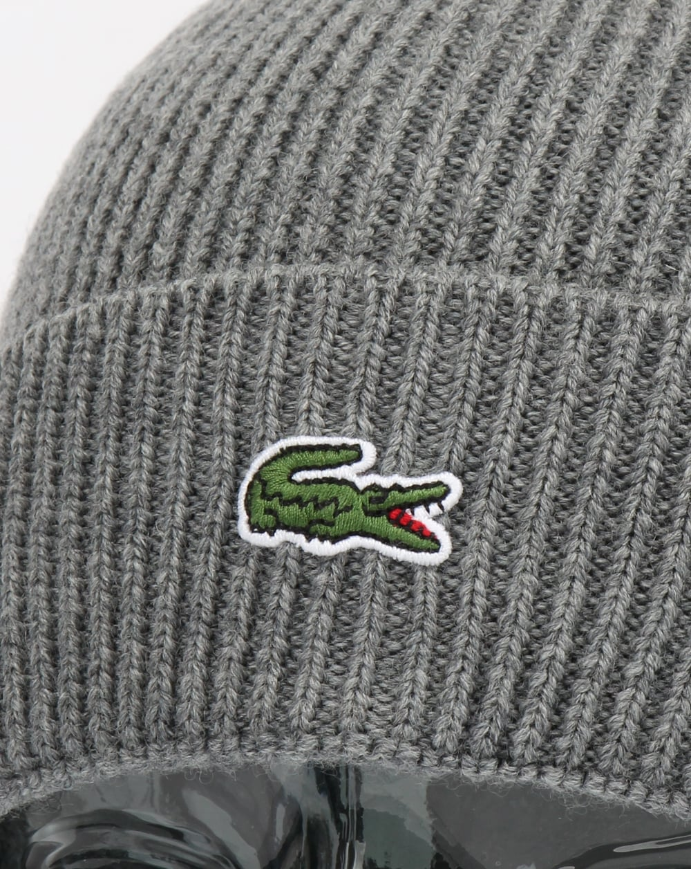 88241a2033016 Lacoste Turn Up Ribbed Wool Beanie Galaxite Chine