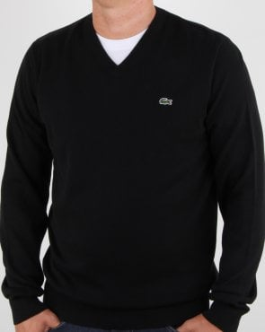 Lacoste V-neck Knit Black