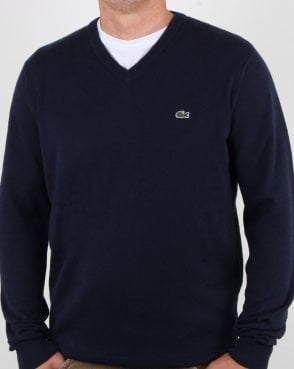 Lacoste V-neck Knit Navy