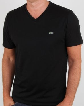 Lacoste V-neck T-shirt Black