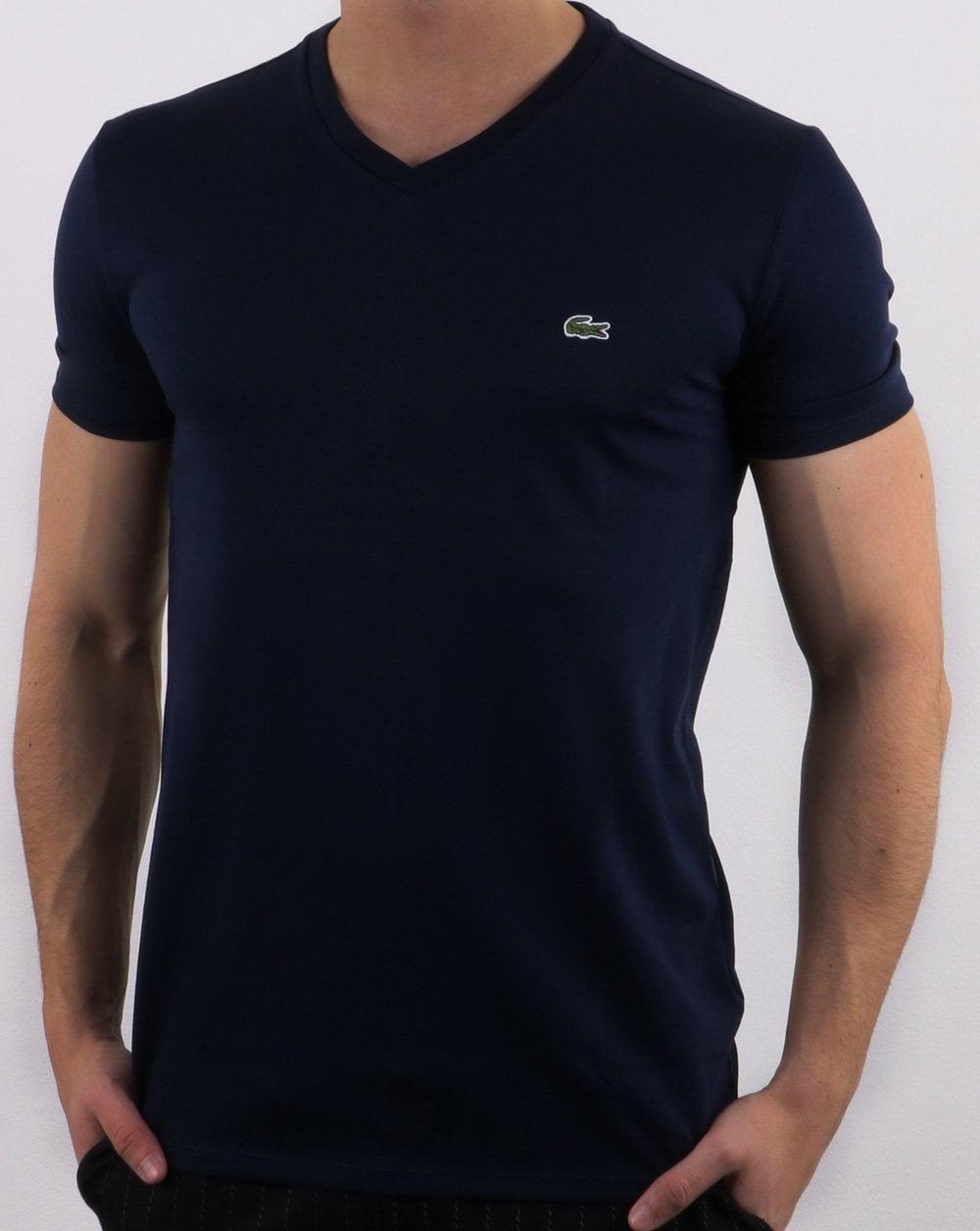 db16e923c8 Lacoste V-neck T-shirt Navy