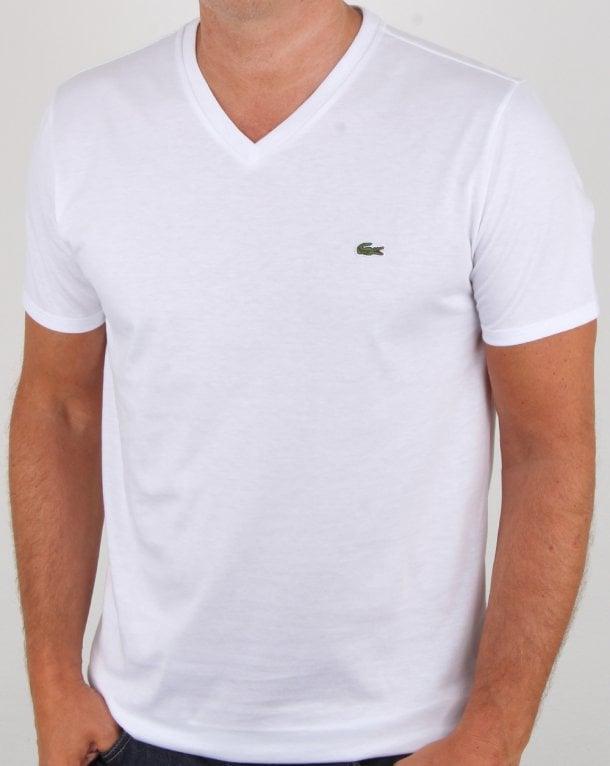 f775ec9a6e Lacoste V-neck T-shirt White