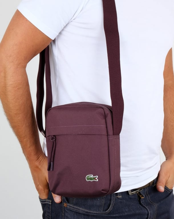 Lacoste Vertical Camera Bag Wine