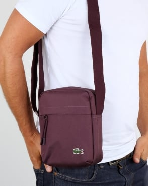 Lacoste Vertical Camera Bag Wine