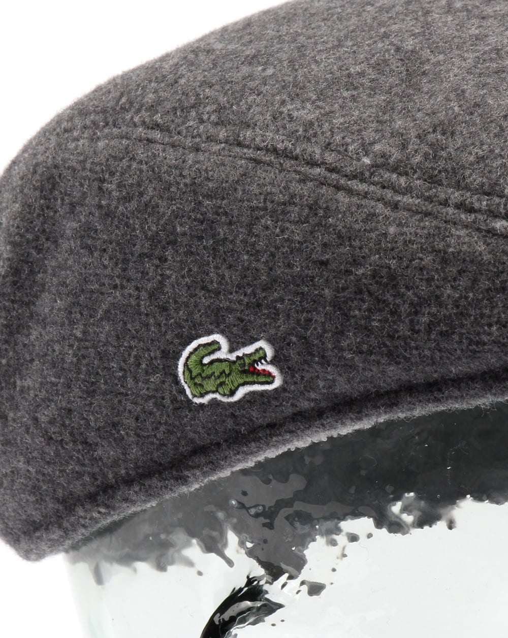 8c76ca018 Lacoste Wool Broadcloth Flat Cap Silver Chine