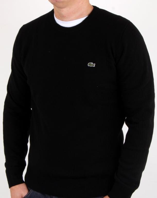Lacoste Wool Crew Neck Jumper Black
