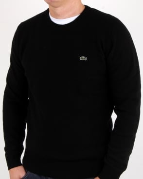 Lacoste Wool Crew Neck Jumper Black